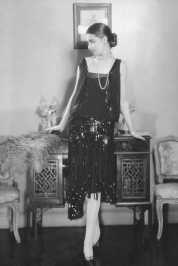 black 1930's dress